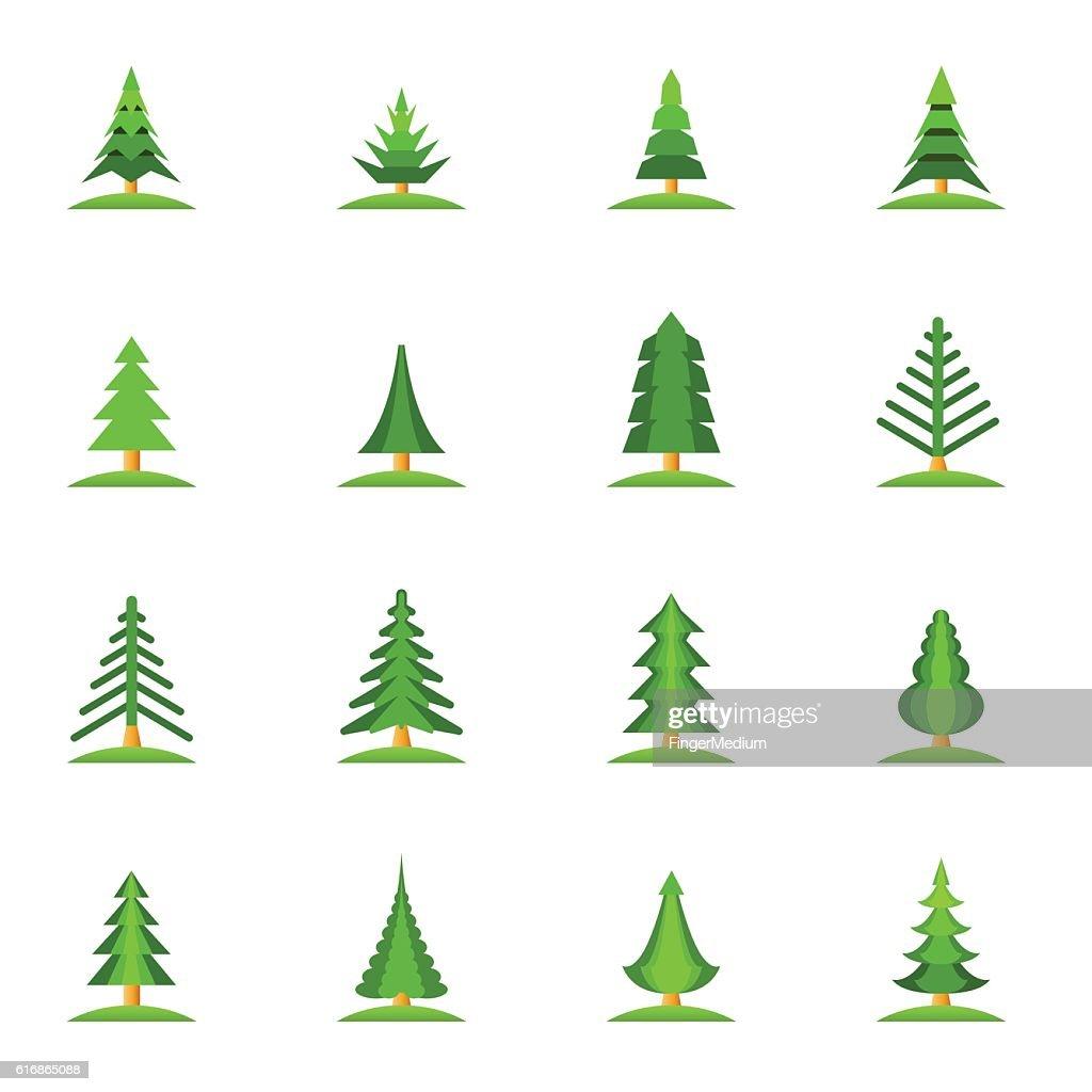 Christmas tree set : Vector Art