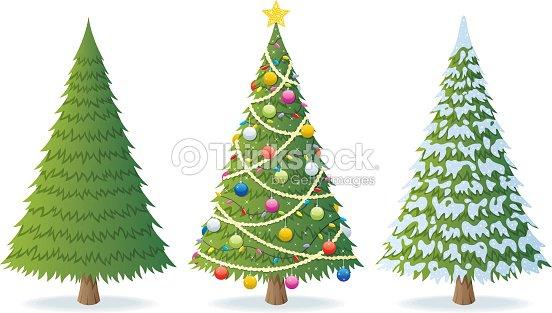 Tannenarten Weihnachtsbaum.Christmas Weihnachtsbaum Vektorgrafik Thinkstock