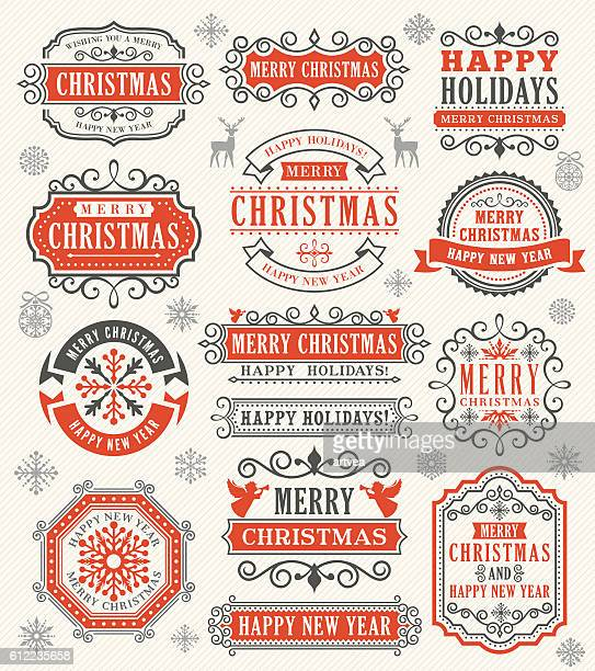 Christmas Vintage Badges