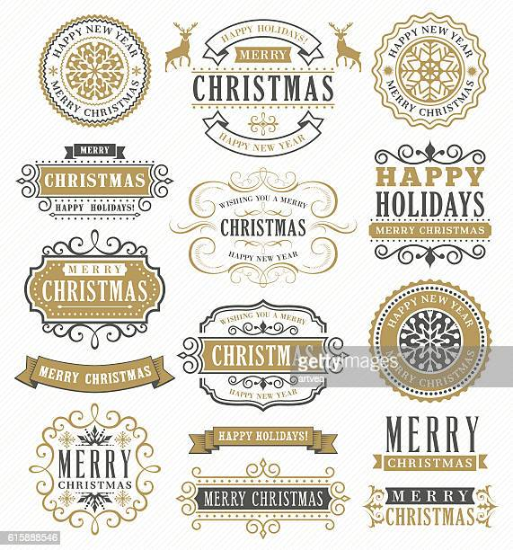 Distintivi di Natale Vintage