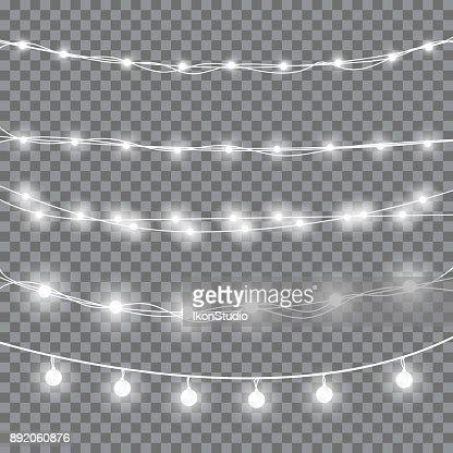 Christmas white lights : stock vector