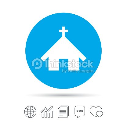 Church icon. Christian religion symbol.