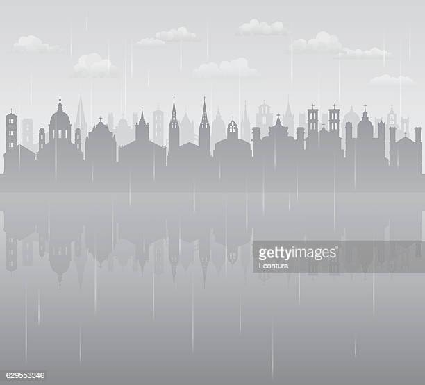 Churches and Rain (All Buildings are Complete and Moveable)