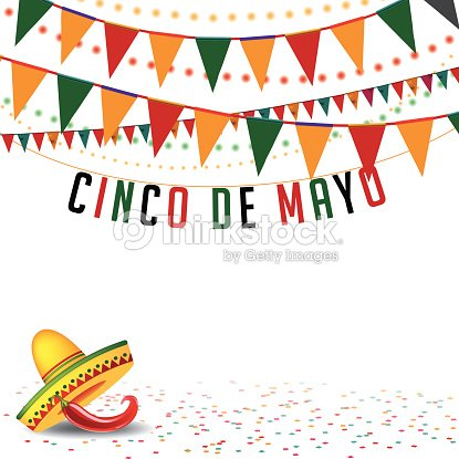 Cinco De Mayo Bunting Background EPS 10 Vector Art