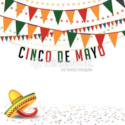 Cinco De Mayo Bunting Background EPS 10 Vector Art