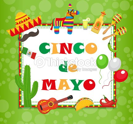 Cinco de mayo greeting card template for flyer poster invitation cinco de mayo greeting card template for flyer poster invitation mexican celebration with traditional symbols vector illustration stopboris Image collections