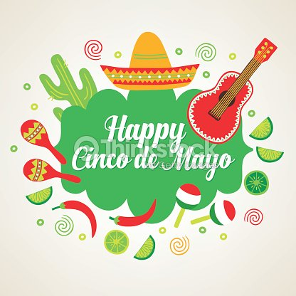 Cinco de mayo greeting card with guitar cactus sombrero vector art cinco de mayo greeting card with guitar cactus sombrero vector art m4hsunfo