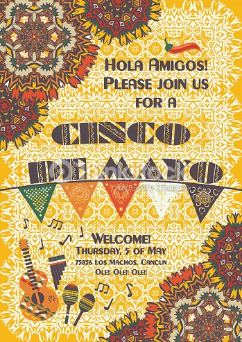 cinco de mayo mexican festive poster template vector art thinkstock