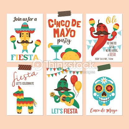 Cinco de mayo mexican holiday banner poster party invitation and cinco de mayo mexican holiday banner poster party invitation and greeting card design set m4hsunfo
