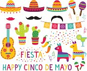 Cinco de Mayo design elements, vector set