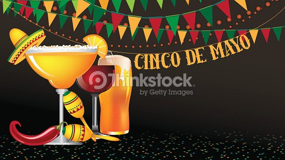 Cinco De Mayo Widescreen Bunting Background Vector Art