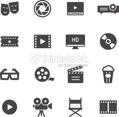 Cinema Icons : stock vector