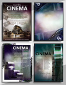 Cinema movie vector poster design template.