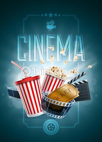 Cinema Poster Design Template Vector Art | Thinkstock