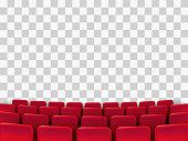 Cinema seats isolated on background. Vector illustration.