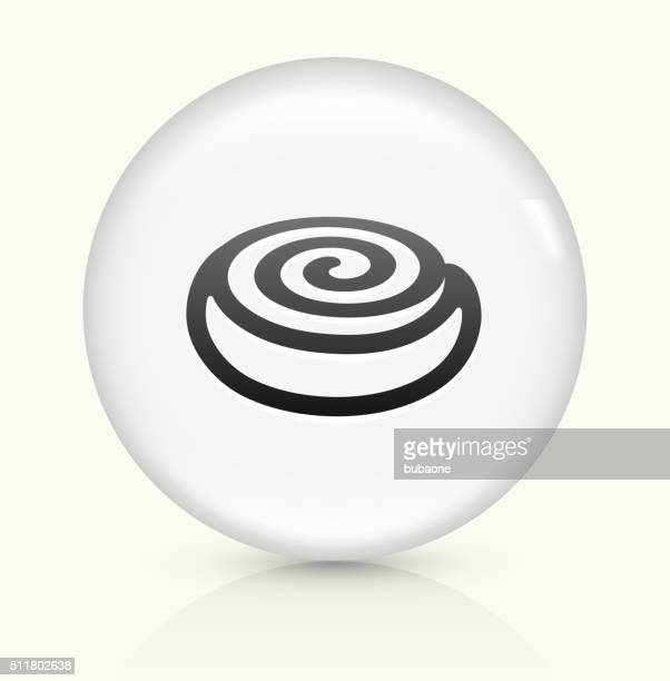Cinnamon Bun icon on white round vector button