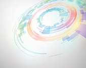circle and rotation, abstract image, vector illustration