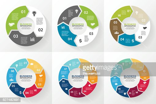 Circle arrows infographic, diagram, options. : stock vector