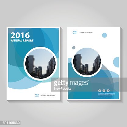Circle Blue Vector Annual Report Leaflet Brochure Flyer Template