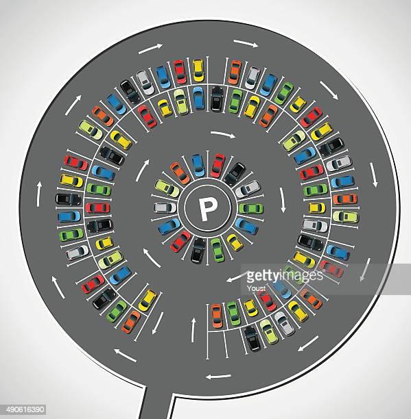 Círculo el estacionamiento sin servicio de valet