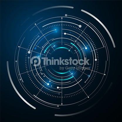 circle digital tech design concept background : stock vector