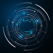 circle digital tech design concept background eps 10 vector