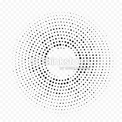 Circle Dot Halftone Circular Pattern Vector White Minimal Gradient