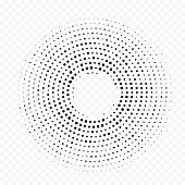 Halftone circle dot pattern background. Vector seamless abstract dotted circular backdrop. White halftone minimal gradient with simple trendy graphic texture for technology interior design decor