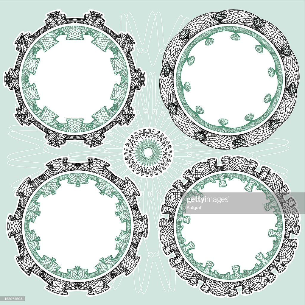 circle emblem design elements vector art getty images