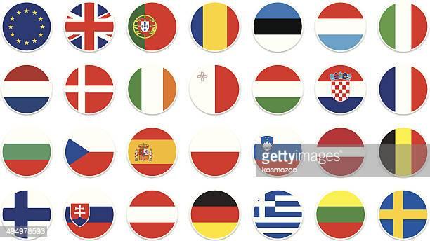 Cercle de Drapeau de l'Union européenne