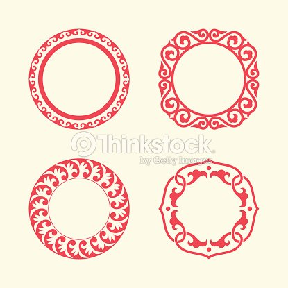 Circle Frames Of Chinese Style Vector Art | Thinkstock