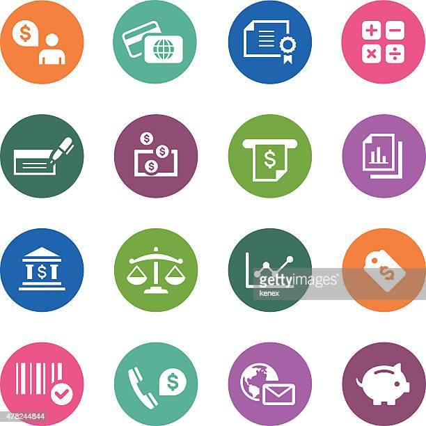 Circle Icons Series | Banking & Finance