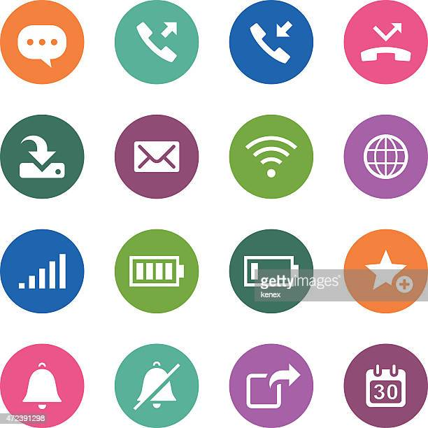 Circle Icons Series | Communication & Smart Phone