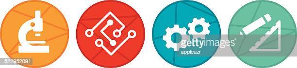 STEM Circle Icons