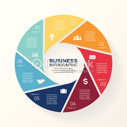 Circle infographic diagram presentation 7 options vector art circle infographic diagram presentation 7 options ccuart Images