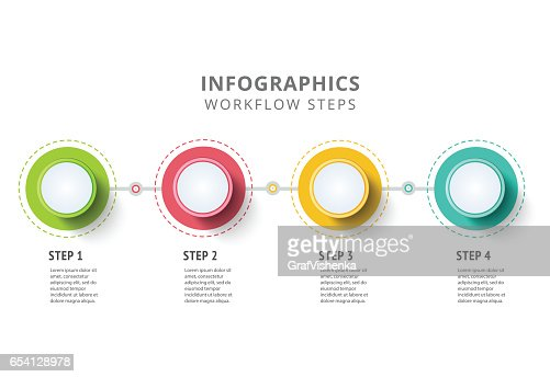 Circle infographics elements design. Abstract business workflow : stock vector