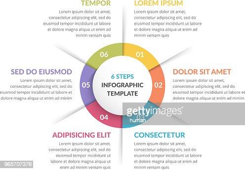 Circle Infographics - Six Elements : stock vector