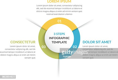Circle Infographics - Three Elements : stock vector