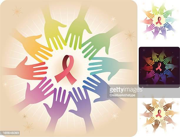 Circle of Hands - Ribbon