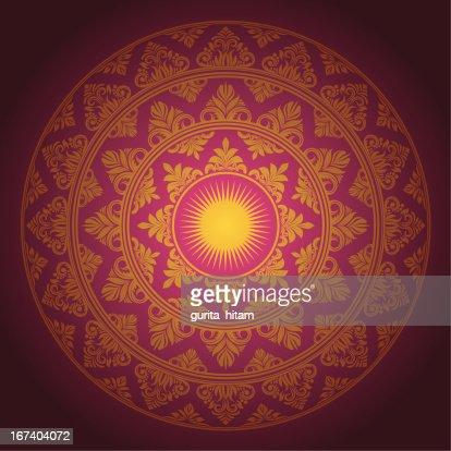 Circle Ornament Decorative : Vector Art