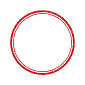 circle stamp frame illustration (blank)