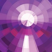 Circle technics violet color abstract vector background. Bright mosaic.