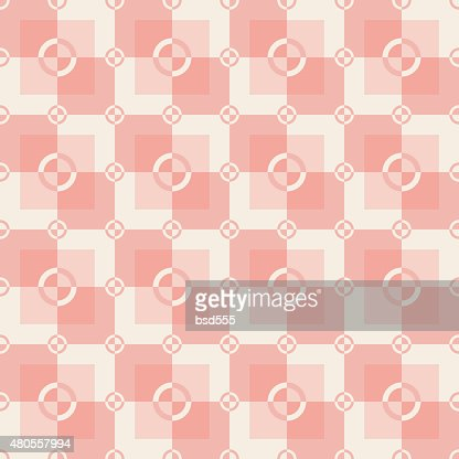 Circle-squares pattern in gray and white colors : Vector Art