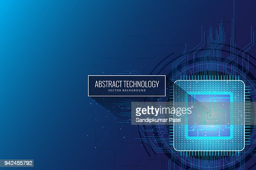 Circuit board chip background : stock vector