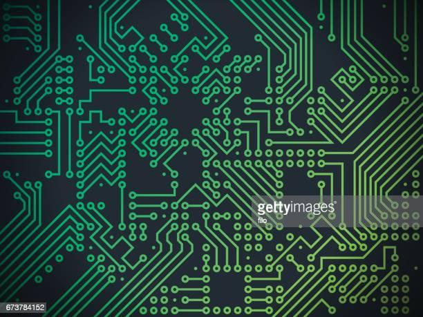Printplaat technologie abstracte achtergrond