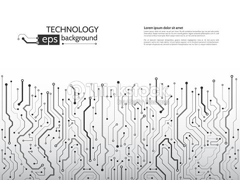 Circuit Board Vector Illustration Hightech Technology Background ...