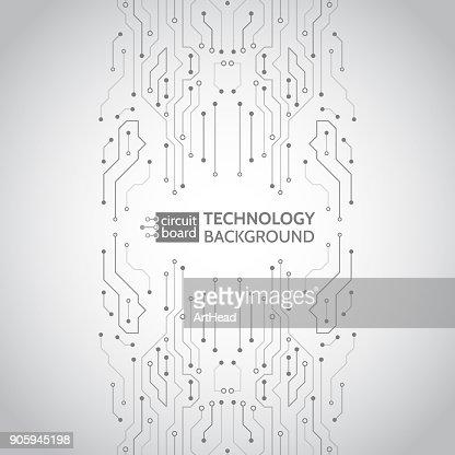 Circuit board vector illustration. : stock vector