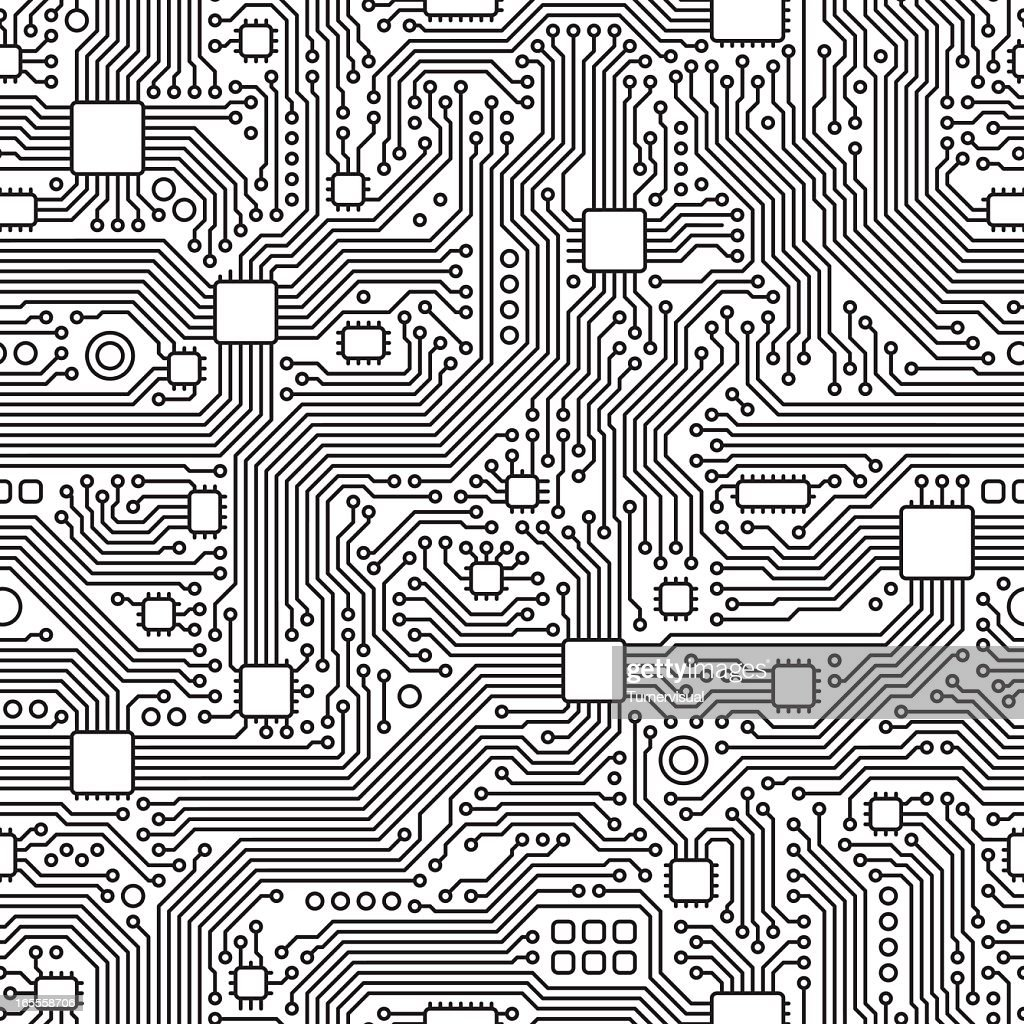circuit board vector seamless tile vector art getty images