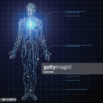 Circuit composed of human graphics. : stock vector