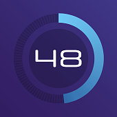 Colorful pie charts. Circular interval timer. Percentage vector infographics. Business infographics. Loading and buffering percentage icon set.
